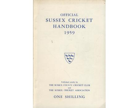 OFFICIAL SUSSEX CRICKET HANDBOOK 1959