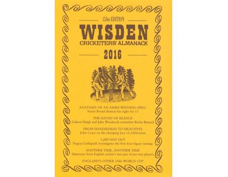 WISDEN TRADITIONAL-STYLE DUST JACKET 2016