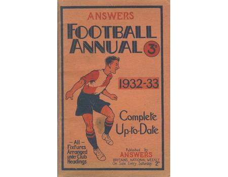 ANSWERS FOOTBALL ANNUAL 1932-33