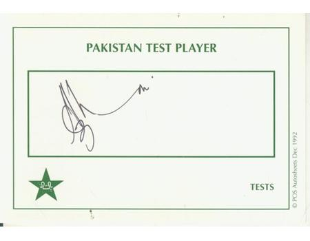AZHAR MAHMOOD (PAKISTAN) CRICKET AUTOGRAPH