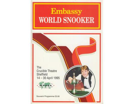 EMBASSY WORLD SNOOKER CHAMPIONSHIP 1995 PROGRAMME - SIGNED BY ALL PLAYERS