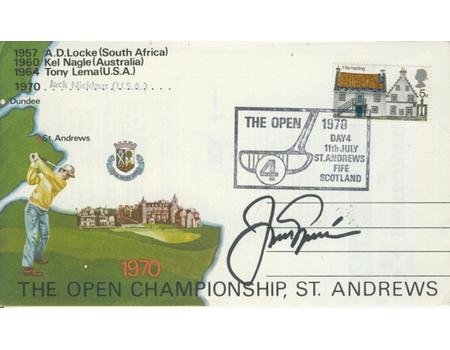 JACK NICKLAUS 1970 (BRITISH OPEN GOLF CHAMPIONSHIP) SIGNED FIRST DAY COVER