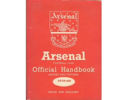 ARSENAL FOOTBALL CLUB 1959-60 OFFICIAL HANDBOOK