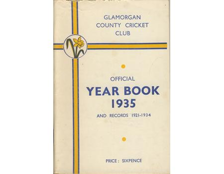 GLAMORGAN COUNTY CRICKET CLUB YEAR BOOK 1935