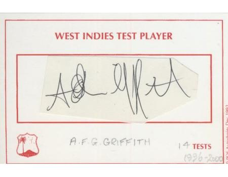 ADRIAN GRIFFITH (WEST INDIES) CRICKET AUTOGRAPH