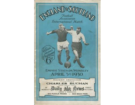 ENGLAND V SCOTLAND 1930 FOOTBALL PROGRAMME