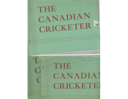 THE CANADIAN CRICKETER 1955 - 12 ISSUES