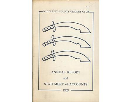 MIDDLESEX COUNTY CRICKET CLUB ANNUAL REPORT 1969