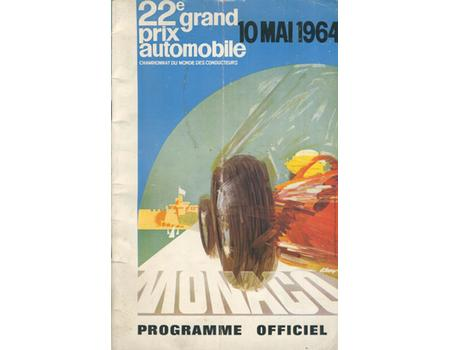 MONACO GRAND PRIX 1964 OFFICIAL PROGRAMME
