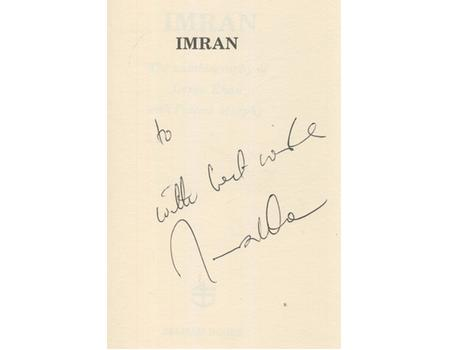 IMRAN: THE AUTOBIOGRAPHY OF IMRAN KHAN