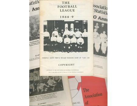 ASSOCIATION OF FOOTBALL STATISTICIANS ANNUALS - VOLUMES 1 - 47