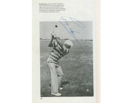 OPEN CHAMPIONSHIP 1979 (ROYAL LYTHAM & ST ANNES) GOLF PROGRAMME - PROFUSELY SIGNED