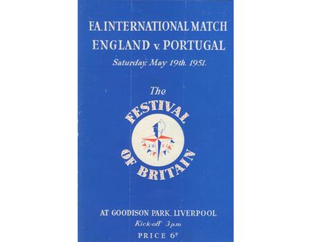 ENGLAND V PORTUGAL 1951 FOOTBALL PROGRAMME (FESTIVAL OF BRITAIN)