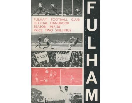 FULHAM FOOTBALL CLUB OFFICIAL HANDBOOK 1967-68