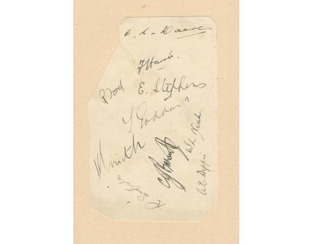GLOUCESTERSHIRE COUNTY CRICKET CLUB 1930 SIGNED ALBUM PAGE