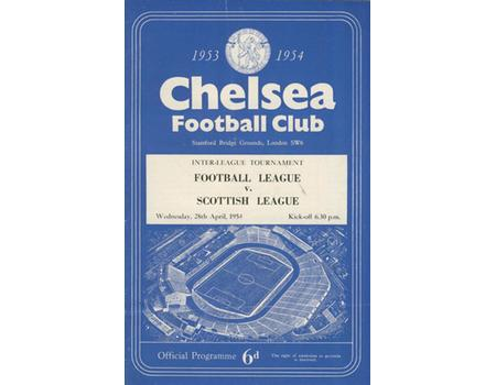 ENGLISH FOOTBALL LEAGUE V  SCOTTISH FOOTBALL LEAGUE 1954 FOOTBALL PROGRAMME (STAMFORD BRIDGE)