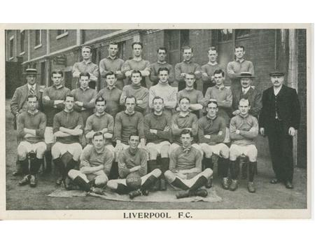 LIVERPOOL FOOTBALL CLUB 1913-14 FOOTBALL POSTCARD