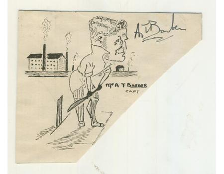 ALAN BARBER (YORKSHIRE) 1930 CRICKET AUTOGRAPH