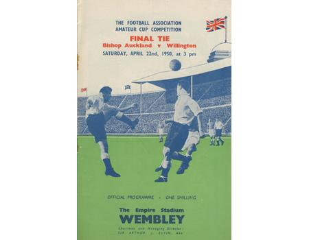 BISHOP AUCKLAND V WILLINGTON 1950 AMATEUR CUP FINAL FOOTBALL PROGRAMME