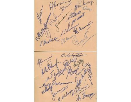 NEW ZEALAND TOUR TO SOUTH AFRICA 1949 RUGBY AUTOGRAPHS