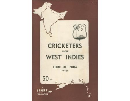 WEST INDIES (TOUR OF INDIA) 1958-59 SIGNED TOUR BROCHURE