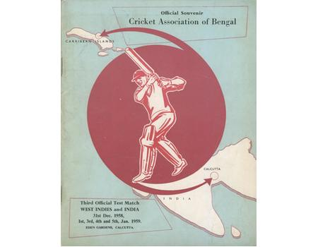 INDIA V WEST INDIES 1958-59 (3RD TEST) CRICKET PROGRAMME - RECORD TEST WIN
