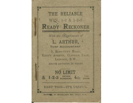 Ready Reckoner Horse Racing