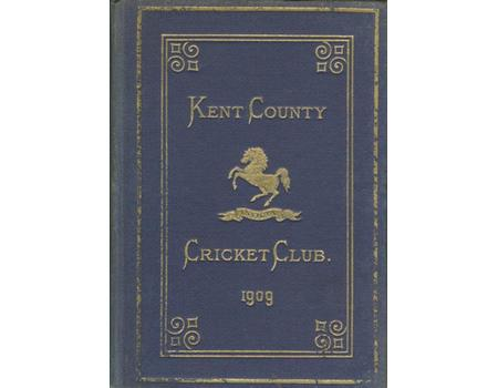 KENT COUNTY CRICKET CLUB 1909 [BLUE BOOK]