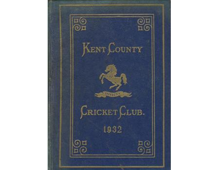 KENT COUNTY CRICKET CLUB 1932 [BLUE BOOK]