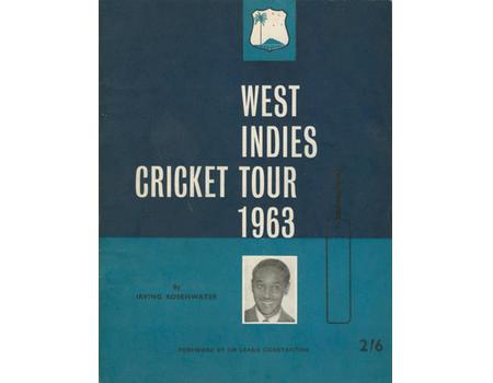 WEST INDIES CRICKET TOUR 1963