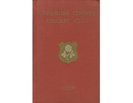 YORKSHIRE COUNTY CRICKET CLUB 1926 [ANNUAL]