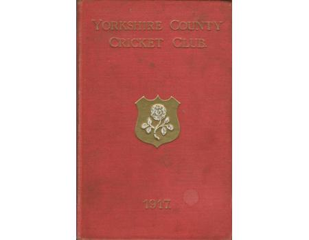YORKSHIRE COUNTY CRICKET CLUB 1917 [ANNUAL]