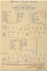 VICTORIA V NEW SOUTH WALES 1926 (RECORD SCORE OF 1107)