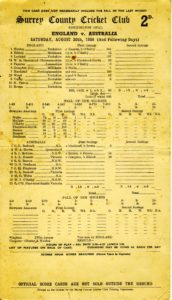 Len Hutton's 364 in the 1938 Ashes, cricket, scorecard, batting, cricket records