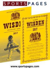 2017 wisden cricketers almanack, traditional style, dust jacket