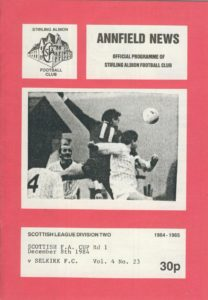 Sportspages' new stock, stirling albion football, selkirk football, scottish fa cup, football programme, sports memorabilia, sportspages
