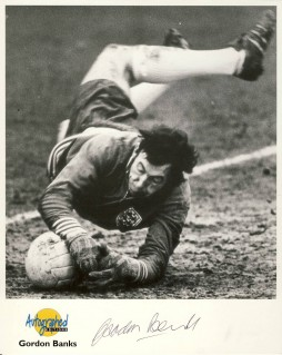 gordon banks, england football, england goalkeeper, 1966 world cup, football autographs, signed football photograph