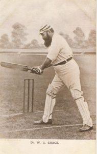 it's just not cricket, w g grace, cricket memorabilia, cricket postcard, sportspages